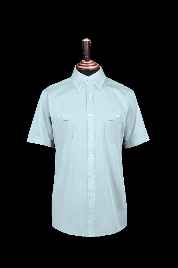 男短袖普通衬衫
