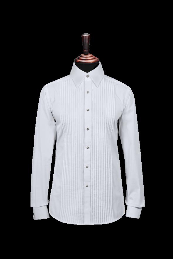 男长袖窄褶礼服款