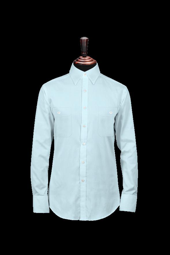 男长袖普通衬衫