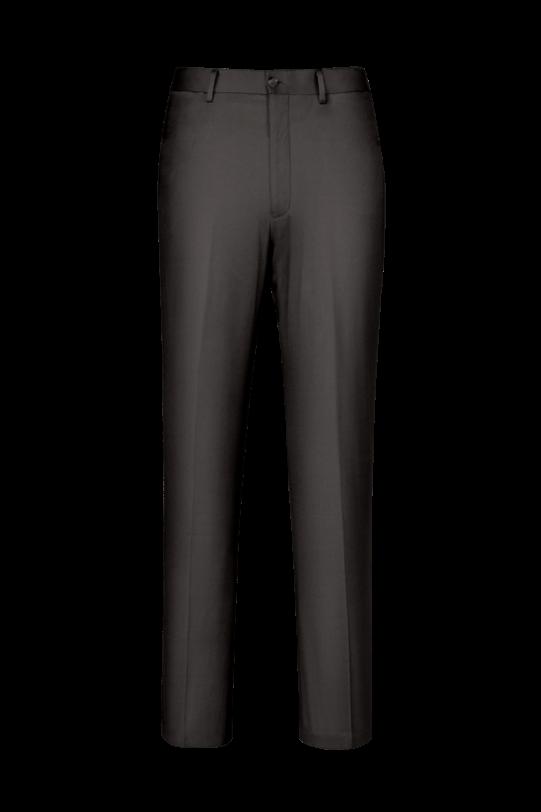 休闲裤子无褶