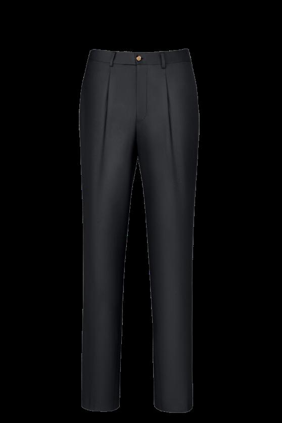 休闲裤子单褶