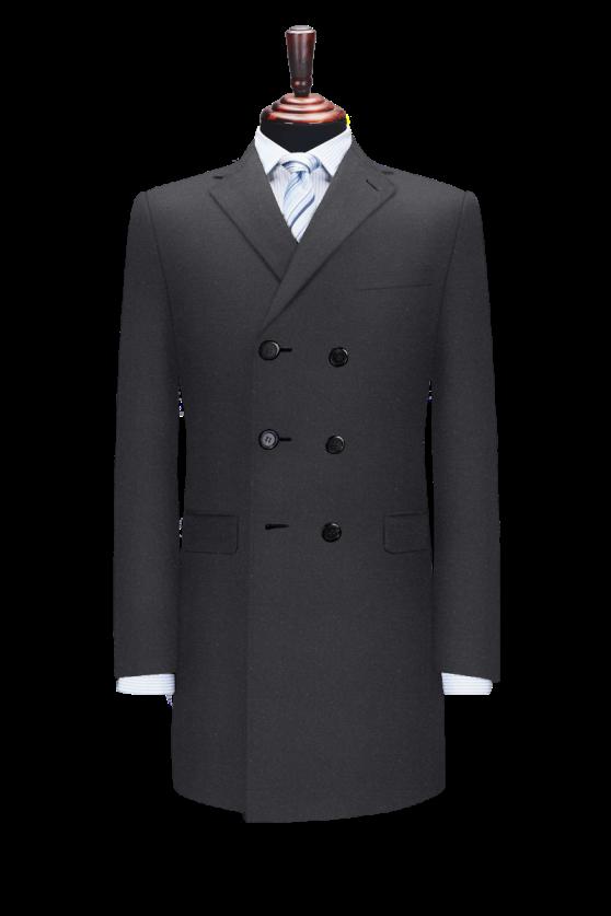 大衣单排三扣